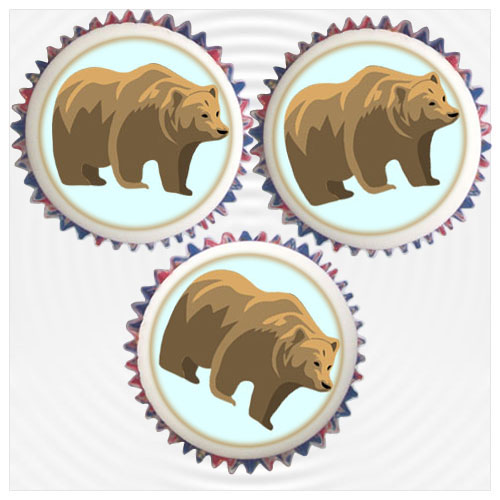 Cake Toppers Uk Next Day Delivery : Bear Cupcakes & Topper Decorations London & UK Delivery